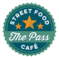 The Pass Street Food Cafe Logo - Handpressed Burgers and Gourmet Treats